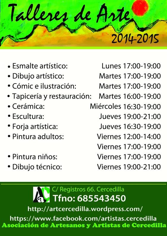 Cartel talleres 2014-2015